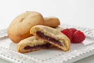 "RASPBERRY CREAM FILLED COOKIE<br>Pack Size:<span class=""custom-label-text"">192/1.5OZ</span><br>Item Code:<span class=""custom-label-text"">AD56</span> Image"