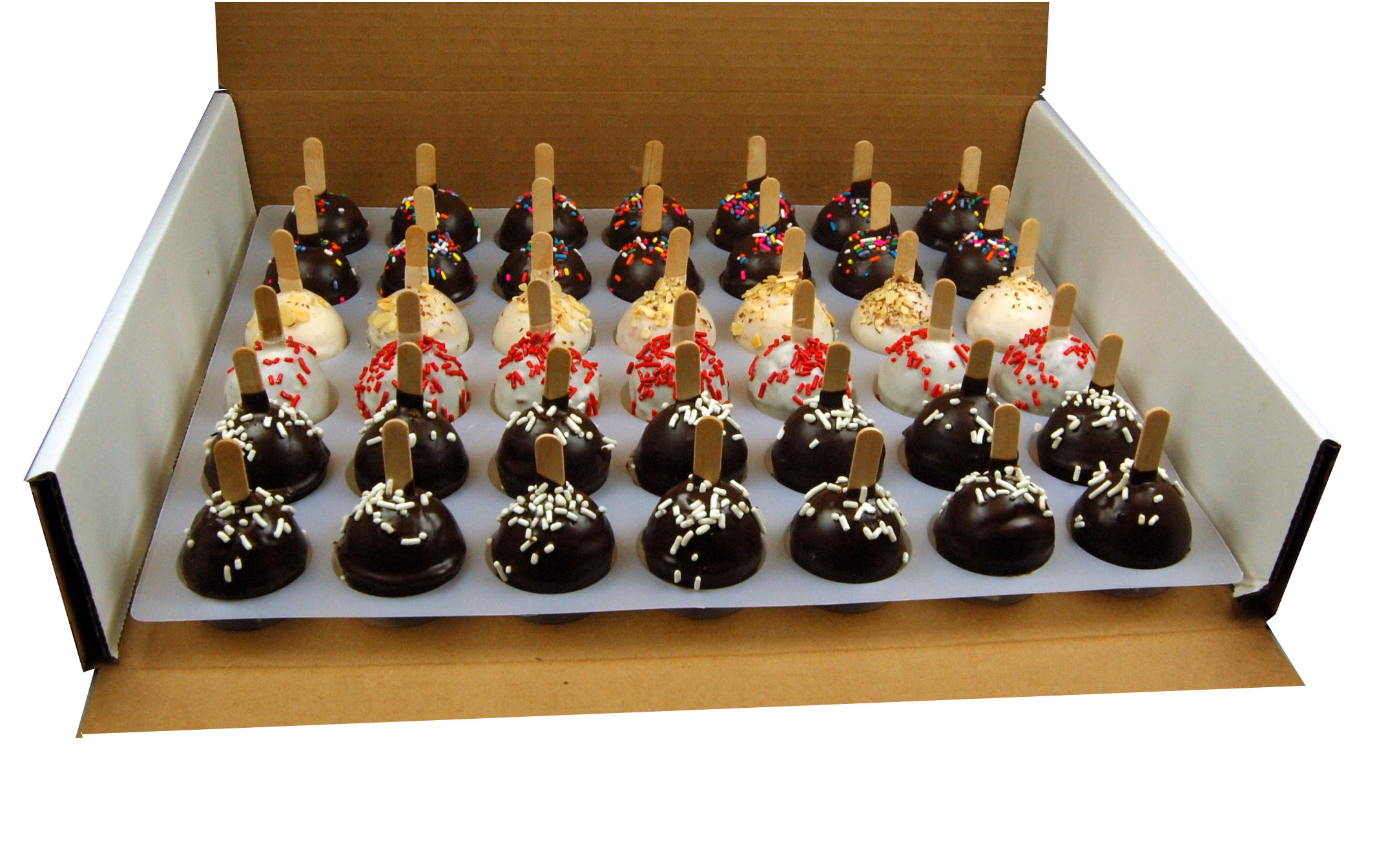 "ASSORTED CAKE POPS<br>Pack Size:<span class=""custom-label-text"">2/42CT</span><br>Item Code:<span class=""custom-label-text"">AL21</span> Image"