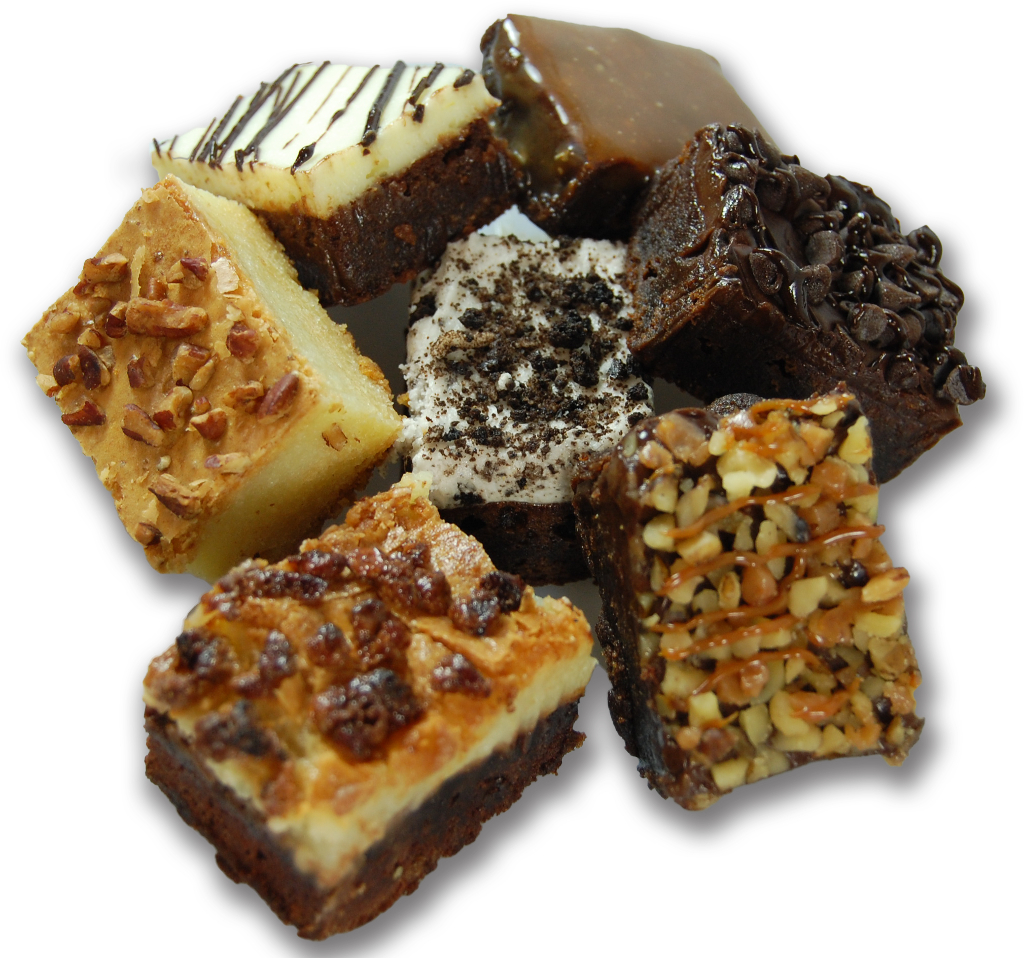 "MINI ASSORTED GOURMET BROWNIES<br>Pack Size:<span class=""custom-label-text"">2/56CT</span><br>Item Code:<span class=""custom-label-text"">AL22</span> Image"