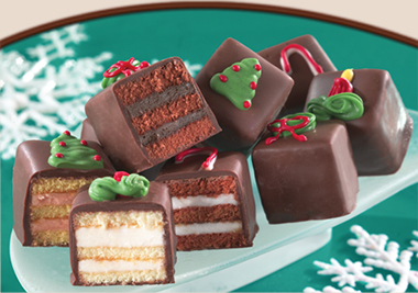 """CHOCOLATE HOLIDAY PETIT FOURS<br>Pack Size:<span class=""""custom-label-text"""">2/72 CT</span><br>Item Code:<span class=""""custom-label-text"""">GC17</span> Image"""
