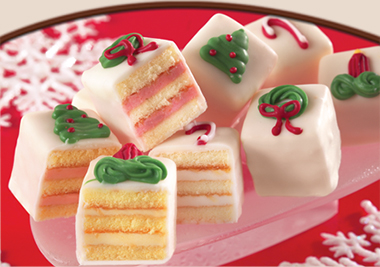 """WHITE HOLIDAY PETIT FOURS<br>Pack Size:<span class=""""custom-label-text"""">2/72 CT</span><br>Item Code:<span class=""""custom-label-text"""">GC21</span> Image"""