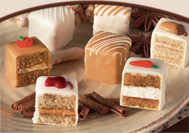 """FALL SPICED PETIT FOURS<br>Pack Size:<span class=""""custom-label-text"""">3/48 CT</span><br>Item Code:<span class=""""custom-label-text"""">GC27</span><br/><span style=""""font-size: 10pt;color: red;font-weight:bold;"""">*** Special Order ***</span> Image"""