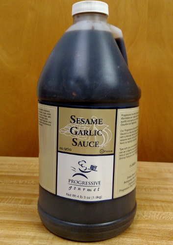 "SESAME GARLIC SAUCE<br>Pack Size:<span class=""custom-label-text"">HALF GAL</span><br>Item Code:<span class=""custom-label-text"">JK01</span> Image"