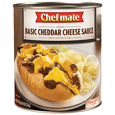 """CHEDDAR CHEESE SAUCE<br>Pack Size:<span class=""""custom-label-text"""">6/6#</span><br>Item Code:<span class=""""custom-label-text"""">MSG3</span> Image"""