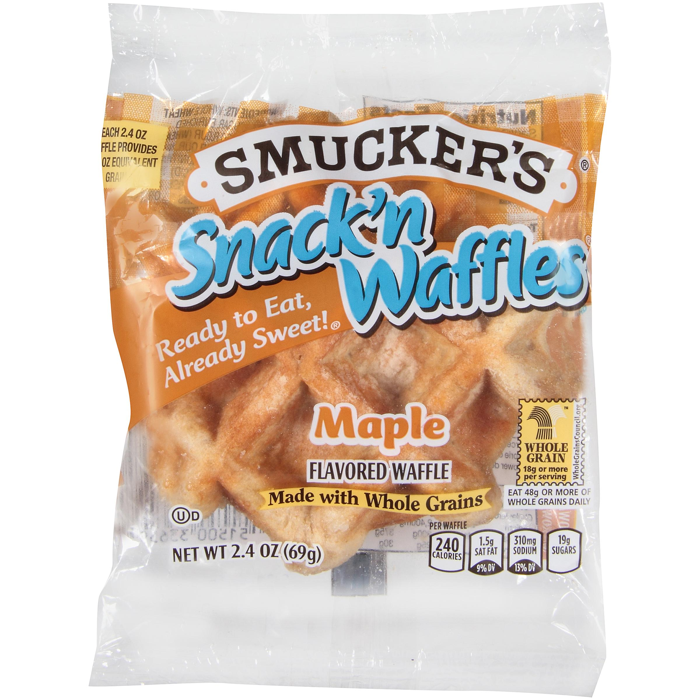 "WHOLE GRAIN MAPLE SNACK N WAFFLE<br>Pack Size:<span class=""custom-label-text"">72/2.4OZ</span><br>Item Code:<span class=""custom-label-text"">SM23</span> Image"