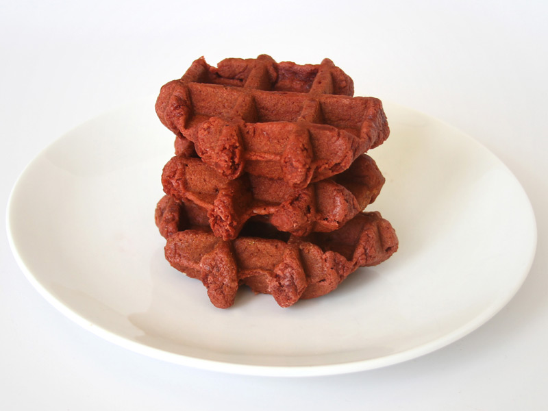 "RED VELVET WAFFLE DOUGH<br>Pack Size:<span class=""custom-label-text"">1/27#</span><br>Item Code:<span class=""custom-label-text"">WF14</span> Image"